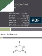 Analisis Golongan Barbiturat