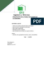 Presupuesto San Vicente de La Sonsierra