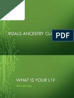 Rizals Ancestry
