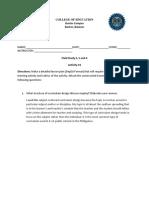 Curriculum guide sample