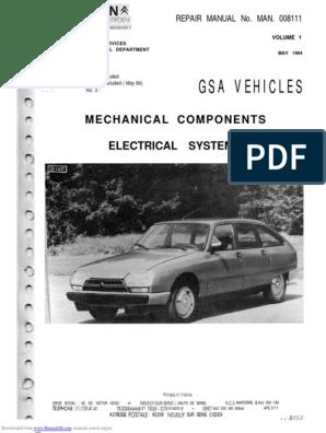Citroen GSA Manual   Carburetor   Ignition System   Citroen Gs Wiring Diagram      Scribd