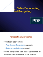 Budgeting and Fforecasting