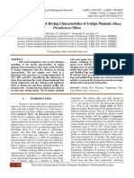 Statistical Modelling of Drying Characteristics of Unripe Plantain (Musa Paradisiaca) Slices