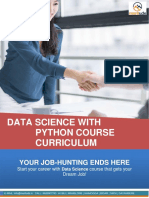 DataScience With Python Course Content Syllabus Meritude