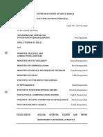 amaBhungane and Sam Sole vs State Security Agency et al, answering affidavit (19 July 2017)