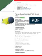 Tomada de Sobrepor de IP 67 Shock Tite - S4506W