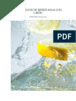 Taller Beneficios de Beber Agua Con Limón