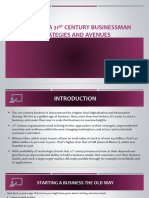 Becoming a 21st Century Businessman