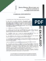 Examen Tecnico Superior en Documentacion Sanitaria - Parte Especifica - Sergas
