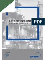 FAHSS TUV NORD - List Of Courses 2019.pdf
