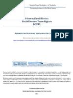 Planeación Didáctica DGETI Institucional Métodos de Investigación