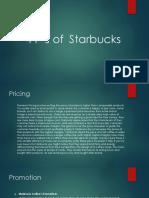 4 P's of Starbucks