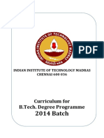 B.tech.Curriculum 2014