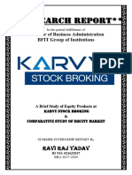 A Brief Study of Equity Products by Ravi Raj Yadav  at karvy stock broking