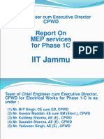 PPT IIT Works 02-09-2019 for Electrical Services