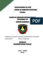 Sillabos Documentacion Policial