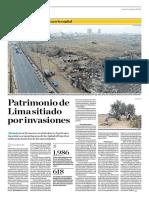 Patrimonio de Lima Sitiado Por Invasiones