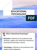 Educational Psychology- Social Development