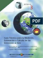 Guia tecnica para la medicion, estimacion y calculo de las emisiones de aire