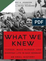 [Eric a. Johnson, Karl-Heinz Reuband] What We Knew
