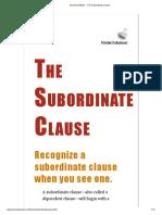 Grammar Bytes! __ the Subordinate Clause