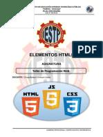 Elements HTML5