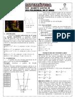 Apostila de Função Do 2º Grau (8 Páginas, 53 Questões, Com Gabarito)