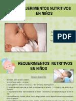 5. 6. Requerimientos Nutritivos y Alimentacion Complementaria