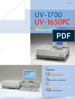 Shimadzu Spectrophotometer UV1700 & UV1650PC