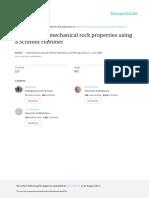 Martillo de Schmidt para propiedades petrofisicas