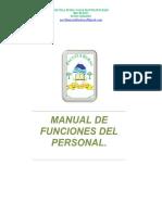 Manual de Funciones Del Personal y de Sus Obligaciones Espec Ficas 2014