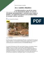 Deforestacion y cambio climático