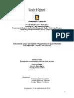 ANÁLISIS DE CICLO DE VIDA DE PRODUCCIÓN DE ELECTRICIDAD POR MEDIO DE LA CAÑA DE AZUCAR