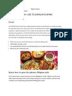 Filipino Project