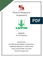 FM-Lupin - Assignment-II Sridhar Ravi