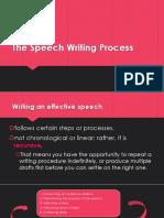 The Speech Writing Process