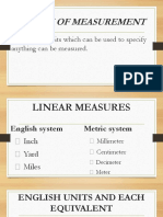 8 System of Measurement