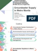 Groundwater Supply in Metro Manila