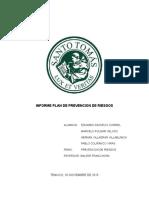 Informe Plan de Prevención de Riesgos