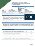 Course Outline Complex Variables Transforms (Revised)