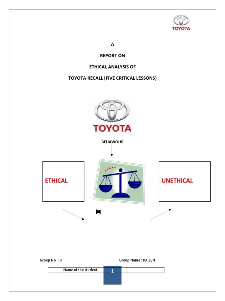 toyota recall analysis | Automobiles | Motor Vehicle