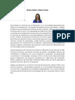 Resumen CV - María Esther Cabral 2019