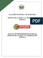 Manual de Procedimeintos de ZARAGOZA