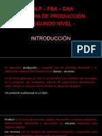 Unlp - 2019 -Producción II - Introducción
