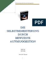 Coue Emile - Die Selbstbemeisterung Durch Bewusste Autosuggestion
