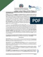 Acuerdo de traspaso del Hemocentro Nacional al Ministerio de Salud Pública.
