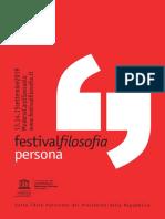 Festival Filosofia 2019 Sulla persona
