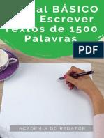 Manual BÁSICO Para Escrever 1500 Palavras.pdf