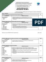Distribución de Ítems Matemáticas 2019-TÉCNICO -Oficial