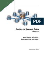 gestión de base de datos